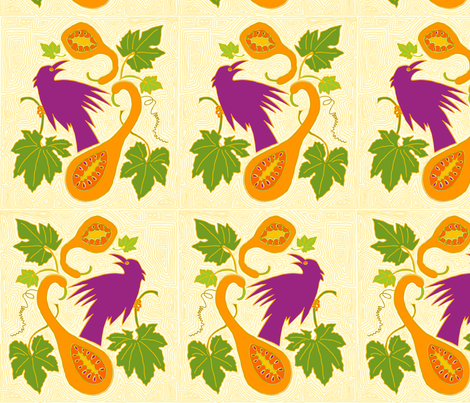 Bird___Gourds_2 fabric by dzynchik on Spoonflower - custom fabric