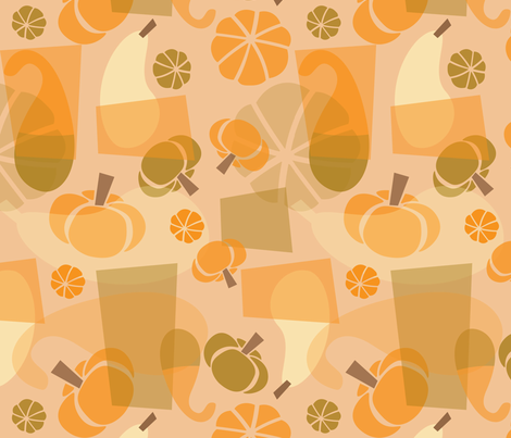 Funky Mod Gourds fabric by acbeilke on Spoonflower - custom fabric