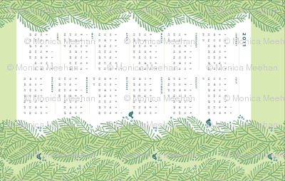 arborvitae green calendar towel