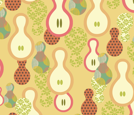 Sweet Gourds fabric by blingmoon on Spoonflower - custom fabric