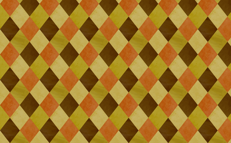 Rombs terracota fabric by ravynka on Spoonflower - custom fabric