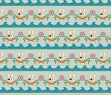 PirateBunny3 fabric by voodoorabbit on Spoonflower - custom fabric