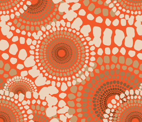 Pile Up Orange fabric by dolphinandcondor on Spoonflower - custom fabric