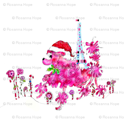Peppie La Poodle shops for Christmas by Rosanna Hope for babybonbons