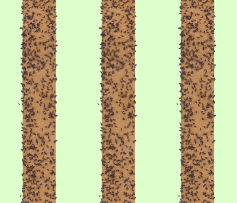 fly_stripe_green_background fabric by victorialasher on Spoonflower - custom fabric