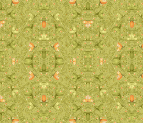 Gourds: Autumn Harvest - © Lucinda Wei fabric by simboko on Spoonflower - custom fabric