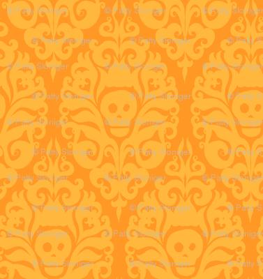 Spooky Damask - Orange