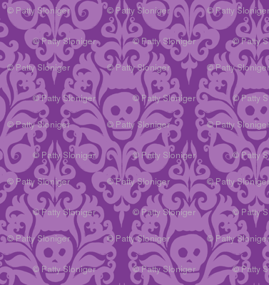 Spooky Damask - Purple