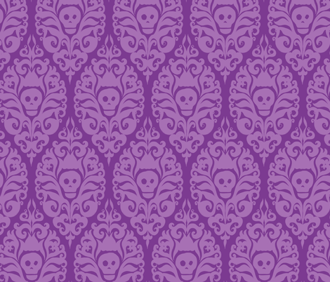 Spooky Damask - Purple fabric by pattysloniger on Spoonflower - custom fabric
