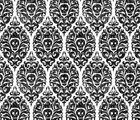 Spooky Damask - Decay fabric by pattysloniger on Spoonflower - custom fabric