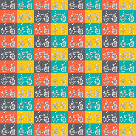 CurlyPops - Dragster Dominoes fabric by curlypops on Spoonflower - custom fabric