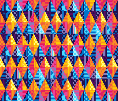 Hot Diamonds fabric by spellstone on Spoonflower - custom fabric