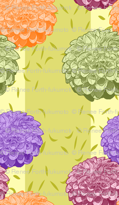Pretty Colorful Dahlias with Stripe