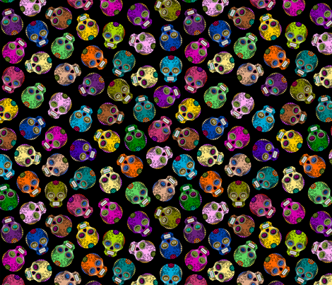 Sugar Skulls fabric by thirdhalfstudios on Spoonflower - custom fabric