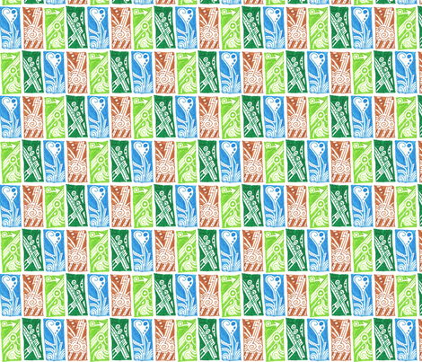Doodle Rectangles fabric by siya on Spoonflower - custom fabric
