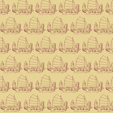 Chinese Boat fabric by siya on Spoonflower - custom fabric