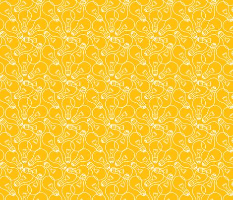 Lightbulbs fabric by siya on Spoonflower - custom fabric