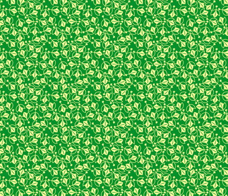 Young Buds on Green fabric by siya on Spoonflower - custom fabric
