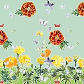 Rmoths_and_marigolds_cyan_aqua_scarves_silk_rgb_shop_thumb