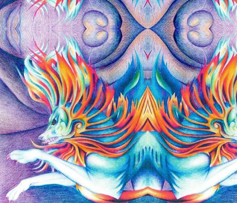 Inner Strength fabric by elfiedoughnut on Spoonflower - custom fabric