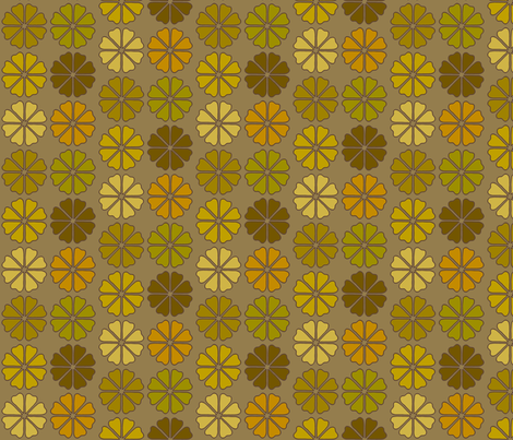 decoflowers_dark fabric by holli_zollinger on Spoonflower - custom fabric