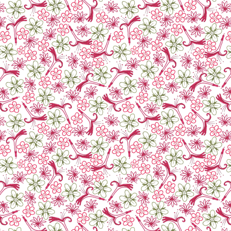 Multifloral Raw fabric by siya on Spoonflower - custom fabric