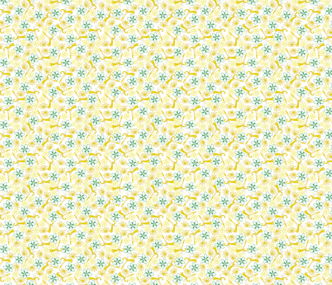 Multifloral - Gold Lines fabric by siya on Spoonflower - custom fabric