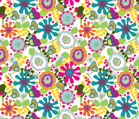 Floral Bloom 1 fabric by thepatternsocial on Spoonflower - custom fabric