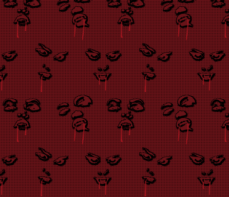 Vamps (black) fabric by leighr on Spoonflower - custom fabric