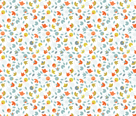 Lindsay Blossoms fabric by stefohnee on Spoonflower - custom fabric