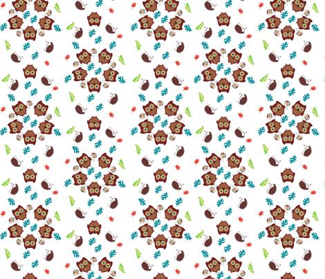 Twit Twoo fabric by andsewon on Spoonflower - custom fabric