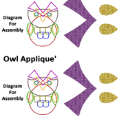 Cut n' Sew Owl Applique' Puzzle