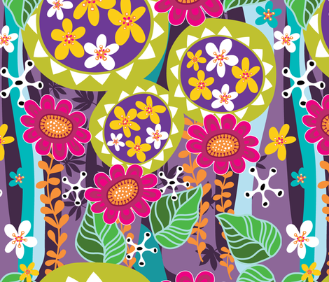 vibrant botanical fabric by yuyu on Spoonflower - custom fabric