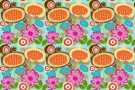Floral Bloom 3 fabric by yuyu on Spoonflower - custom fabric