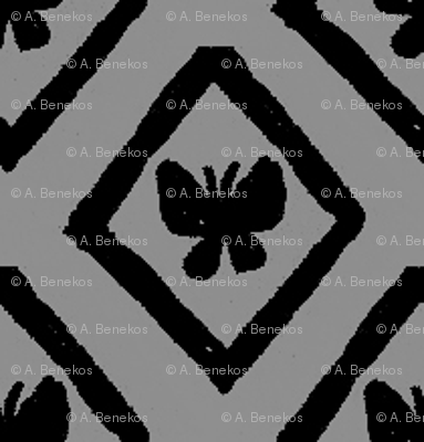 Butterfly Diamonds - Gray