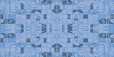 Very Geometric in blue © Gingezel™ 21011