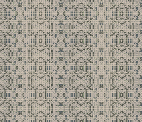 Very Geometric Green and beige © Gingezel™ 2012 fabric by gingezel on Spoonflower - custom fabric