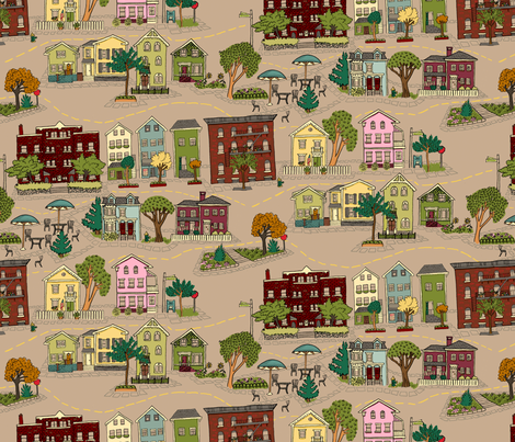 Providence Surroundings fabric by 1stpancake on Spoonflower - custom fabric