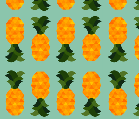 juicy pineapples fabric by annaboo on Spoonflower - custom fabric
