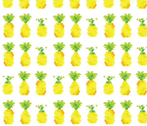 lovely bunch of pineapples fabric by annaboo on Spoonflower - custom fabric