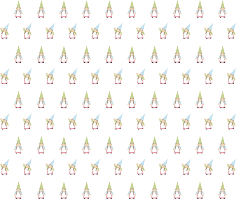 Woodland Gnomes on White - Girls fabric by inktreepress on Spoonflower - custom fabric