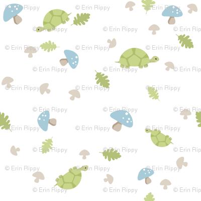 Turtles Wander - Blue