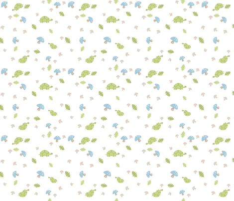 Turtles Wander - Blue fabric by inktreepress on Spoonflower - custom fabric