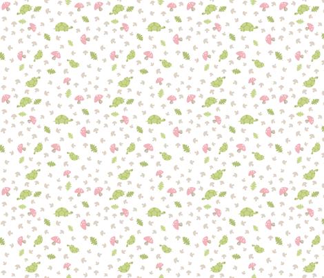 Turtles Wander - Pink fabric by inktreepress on Spoonflower - custom fabric