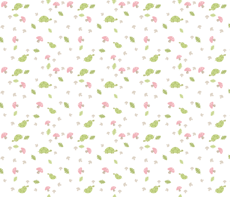 Turtles Wander - Pink fabric by inktreepress on Spoonflower - custom fabric
