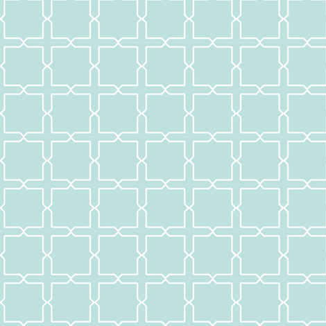 Trellis in light blue fabric by ravynka on Spoonflower - custom fabric