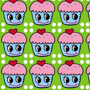 Pink Blue Cupcake
