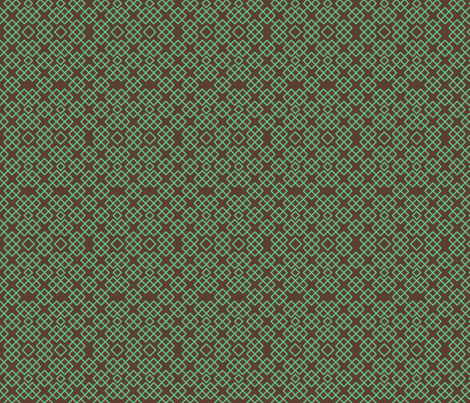 trelischocolateandmint fabric by ravynka on Spoonflower - custom fabric