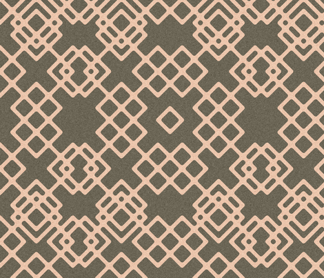trellis - salt and pepper fabric by ravynka on Spoonflower - custom fabric