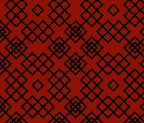 Trellis red and black fabric by ravynka on Spoonflower - custom fabric